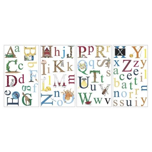 Room Mates Studio Designs 73 Piece Alphabet Wall Decal Set
