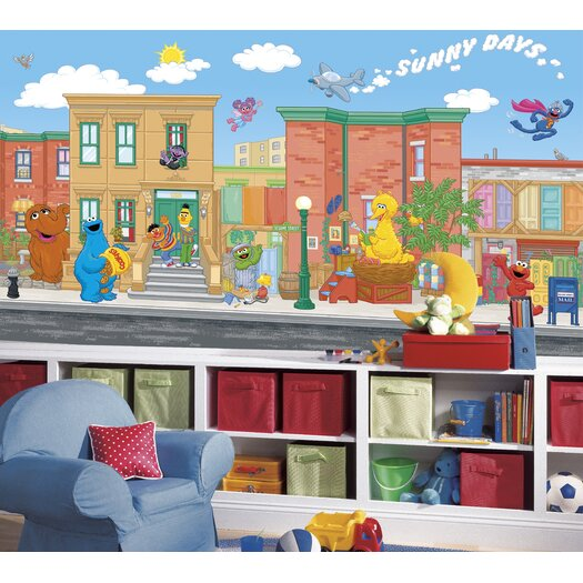 Room Mates Extra Large Murals Sesame Street Wall Decal