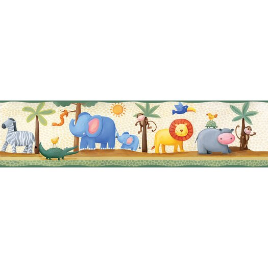 Room Mates Studio Designs Jungle Adventure Peel and Stick Wallpaper Border