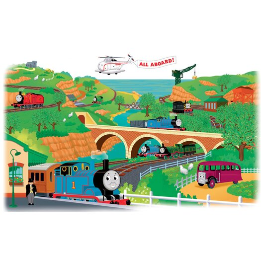 Room Mates Favorite Characters 2 Piece Thomas and Friends Giant Wall Mural Set