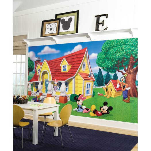 Room Mates Extra Large Murals Mickey and Friends Chair Rail Wall Decal