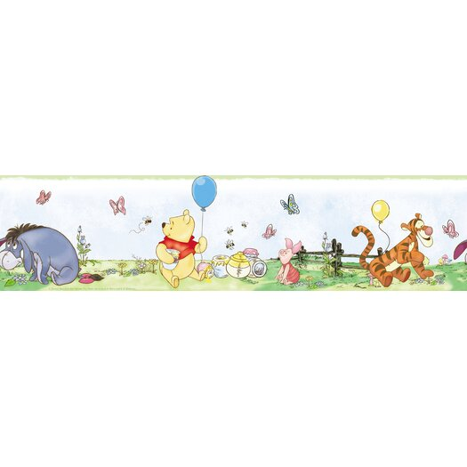 Room Mates Winnie The Pooh Toddler Wallpaper Border