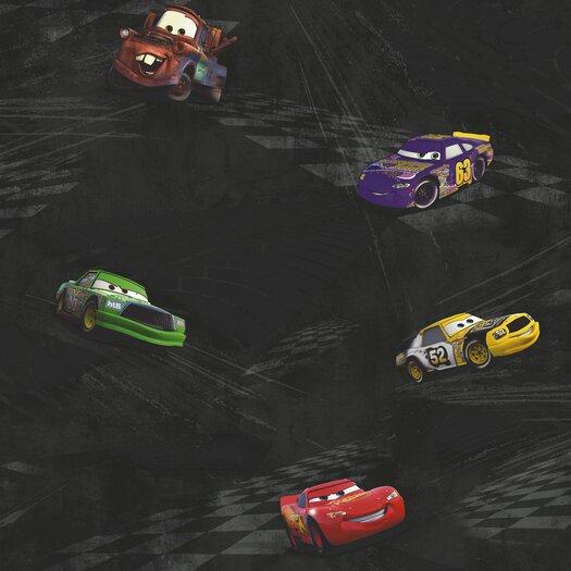 Room Mates Cars Racing Wallpaper