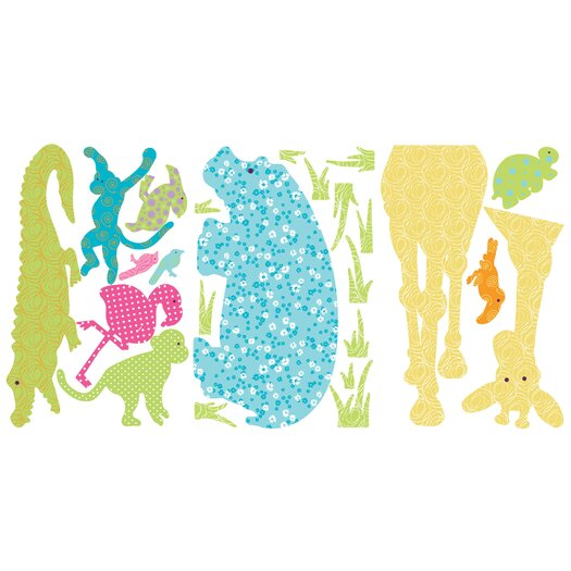 Room Mates Studio Designs 24 Piece Animal Silhouettes Giant Wall Decal Set