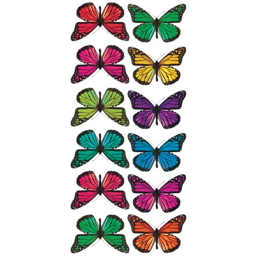 Room Mates Butterfly 3-D Wall Decal