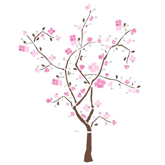 Room Mates 105 Piece Spring Blossom Giant Wall Decal