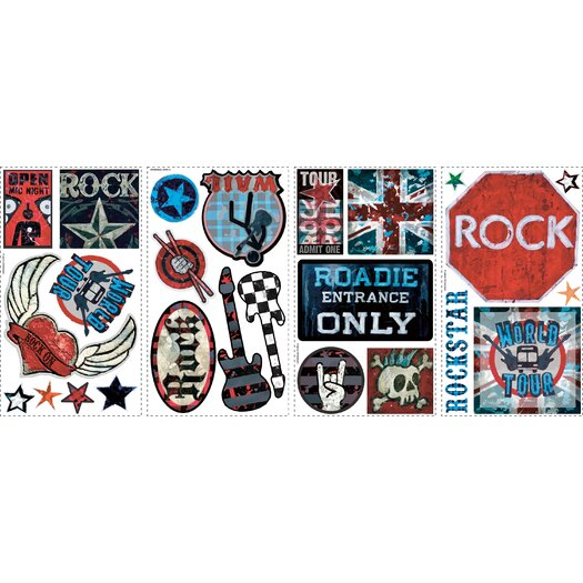 Room Mates Boys Rock-n-Roll Wall Decal