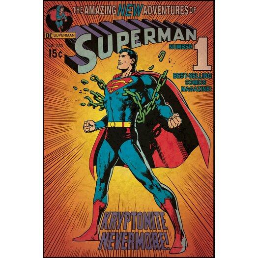 Room Mates Superman Kryptonite Comic Cover Wall Decal