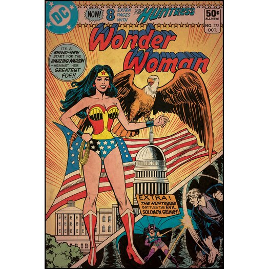 Room Mates Wonder Woman Comic Cover Wall Decal