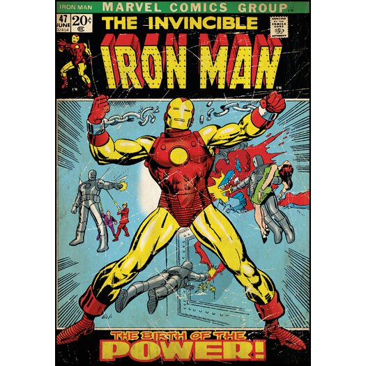 Room Mates Iron Man Comic Book Cover Wall Decal