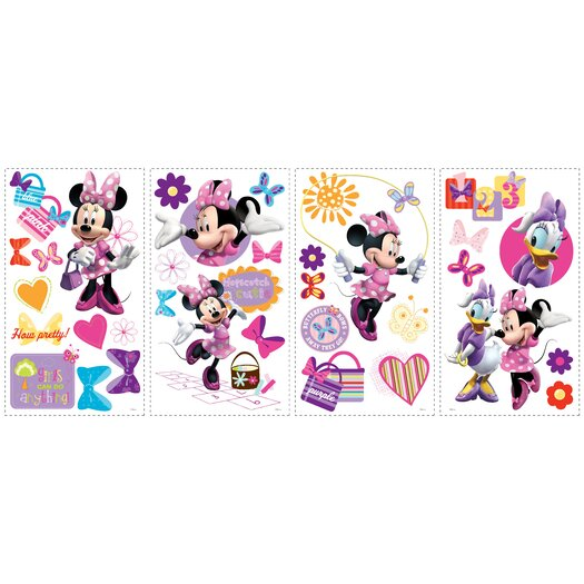 Room Mates Minnie Bow Tique Wall Decal
