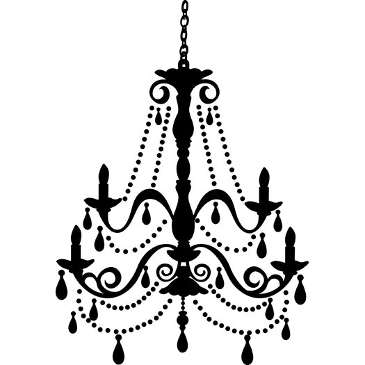 Room Mates Chandelier Gems Giant Wall Decal