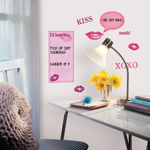 Room Mates Kisses Dry Erase Wall Decal