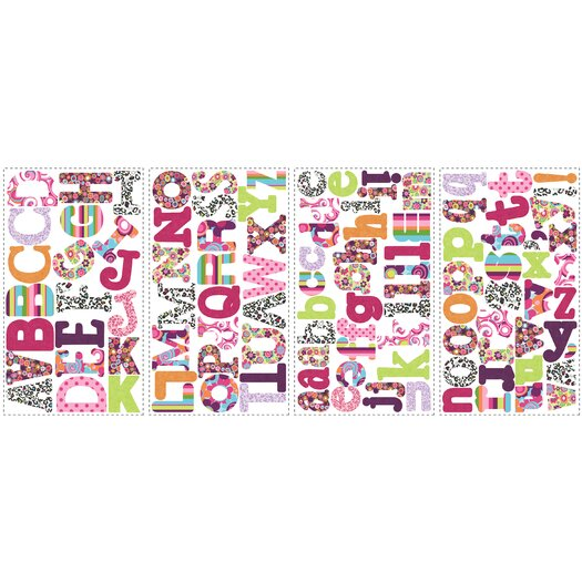 Room Mates Boho Letters Wall Decal