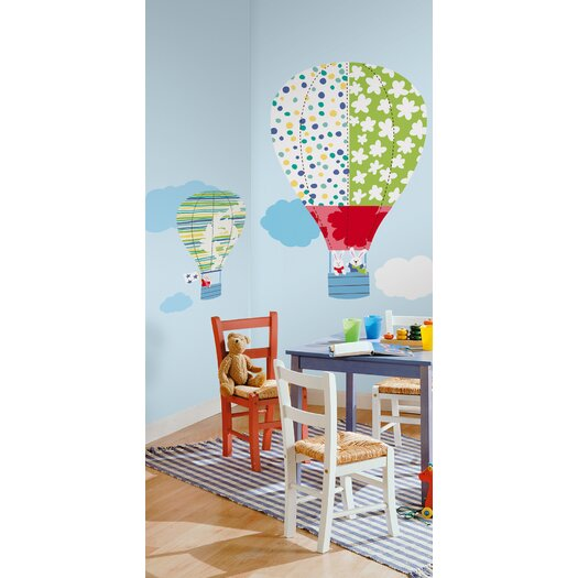 Room Mates Hot Air Balloons Giant Wall Decal