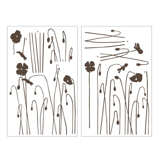 Room Mates Mia & Co Floral Arc Wall Decal
