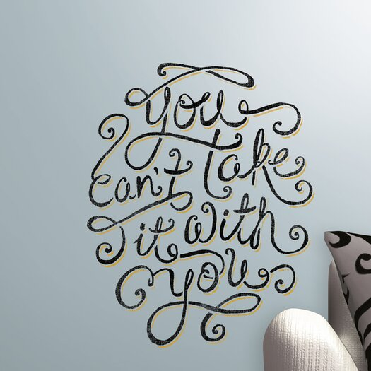 Room Mates 5 Piece Peel & Stick Giant Wall Decals/Wall Stickers 55 Hi's You Can't Take It With You Wall Decal Set