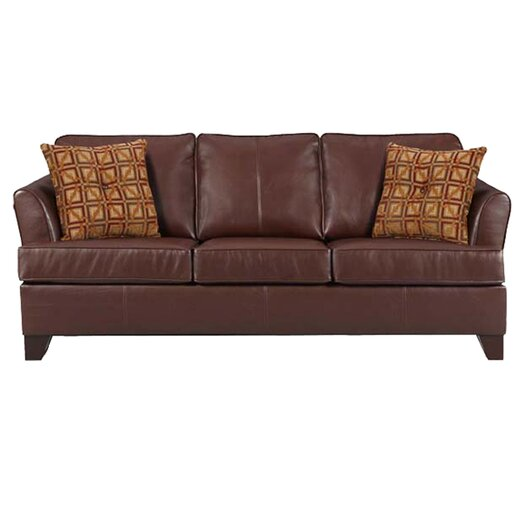InRoom Designs Leather Sleeper Sofa