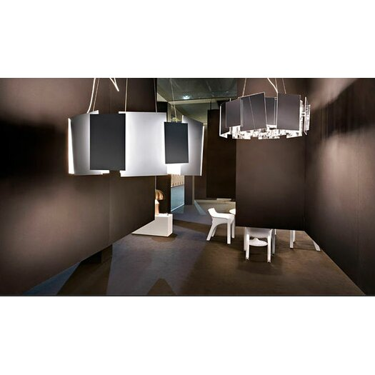 Oluce Coroa Double-Face Mirror Suspension Lamp