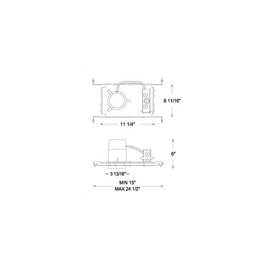 """WAC Lighting Series New Construction Non-IC 3"""" Recessed Housing"""