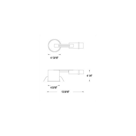 """WAC Lighting Low Voltage Remodeling 4"""" Recessed Housing"""