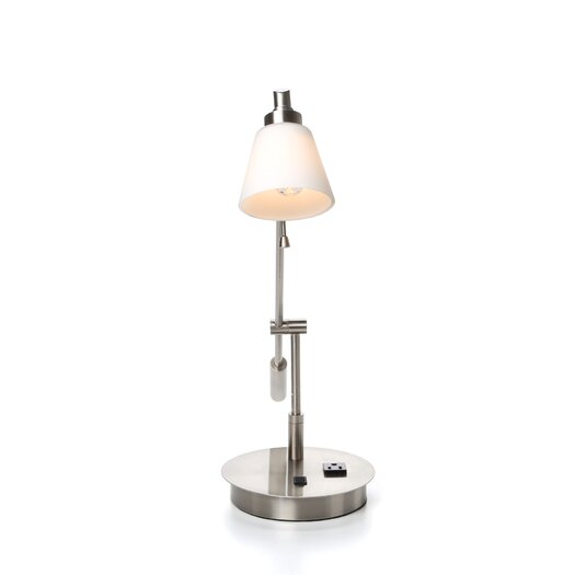 "George Kovacs by Minka George's Reading Room 21.5"" H Table Lamp with Empire Shade"