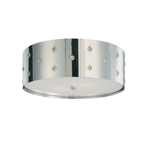 George Kovacs by Minka Bling Bling 2 Lights Flush Mount