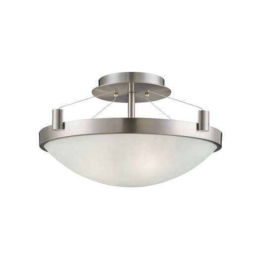 George Kovacs by Minka Suspended 3 Lights Semi Flush Mount