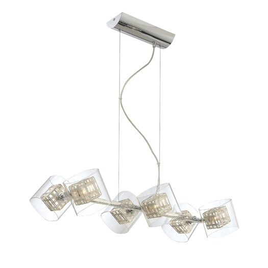 George Kovacs by Minka Jewel Box 6 Light Kitchen Island Pendant