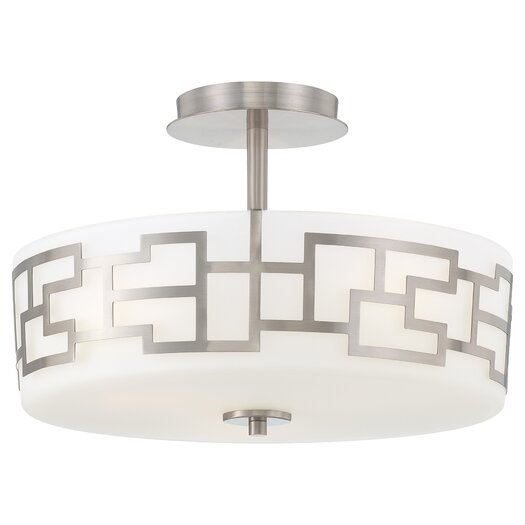 George Kovacs by Minka Alecia's Necklace 3 Light Semi Flush Mount