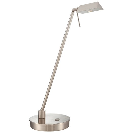 """George Kovacs by Minka Contemporary 1 LED Light 19"""" H Table Lamp with Drum Shade"""