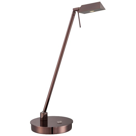 "George Kovacs by Minka Contemporary 1 LED Light 19"" H Table Lamp with Drum Shade"