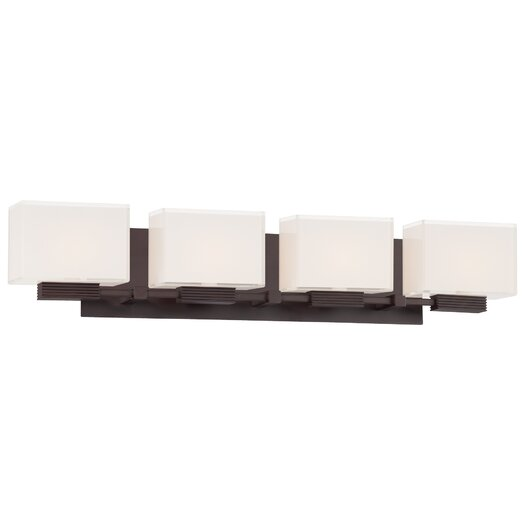 George Kovacs by Minka Cubism 4 Light Bath Vanity Light