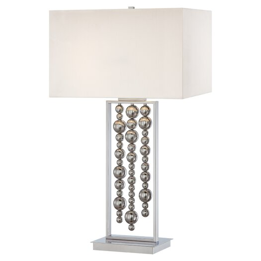 "George Kovacs by Minka 2 Light 34"" H Table Lamp with Rectangular Shade"