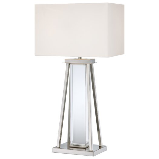 "George Kovacs by Minka 2 Light 32.25"" H Table Lamp with Rectangular Shade"