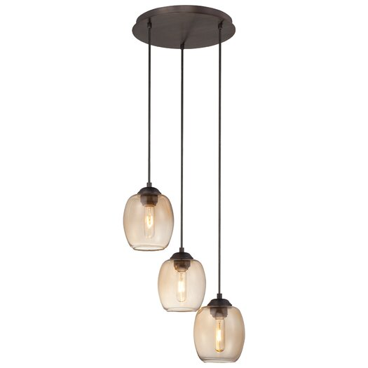 George Kovacs by Minka Bubble 3 Light Pendant