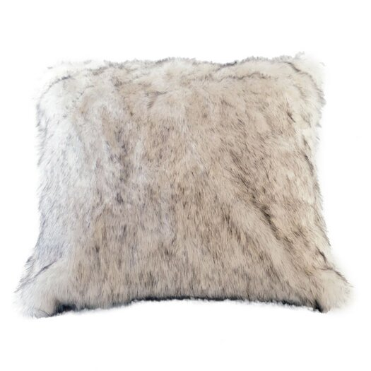 Posh Pelts Arctic Fox Faux Fur Throw Pillow Cover