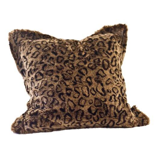 Posh Pelts Leopard Faux Fur Pillow Cover