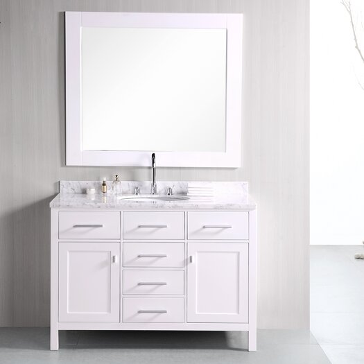 "Design Element London 48"" Single Bathroom Vanity Set"