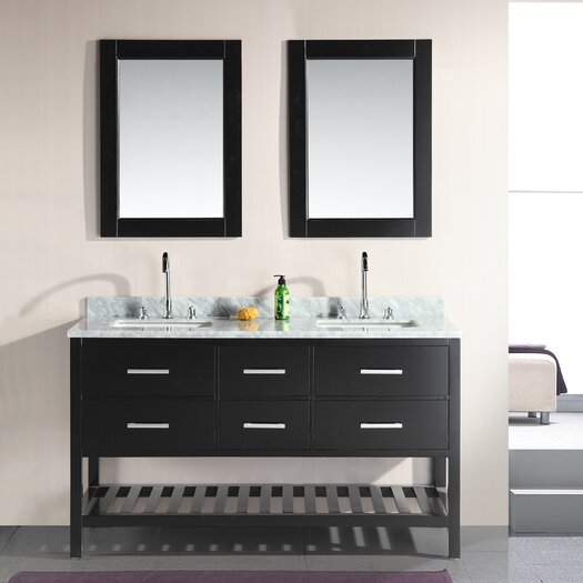 "Design Element London 61"" Double Sink Vanity Set"