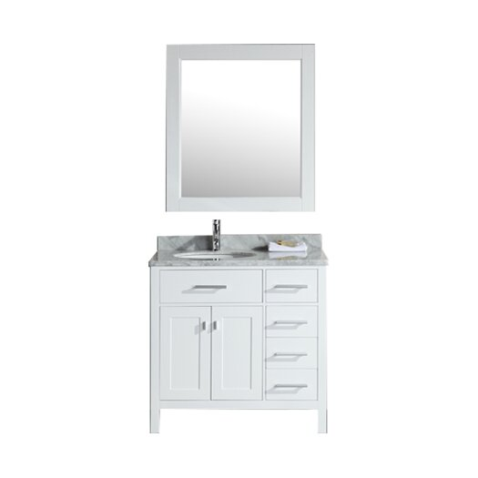 "Design Element London 36"" Vanity Set with Single Sink"