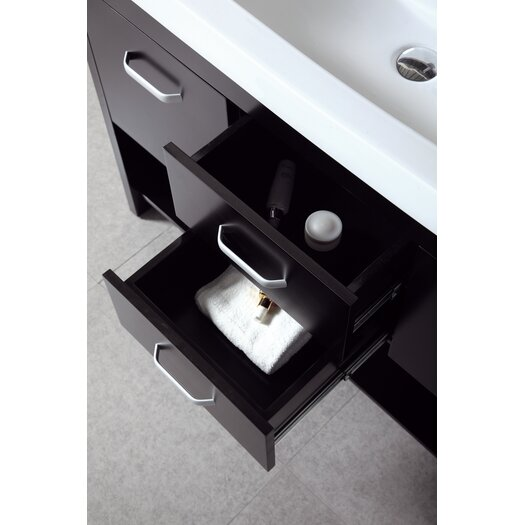 "Design Element Citrus 48"" Double Sink Vanity Set"