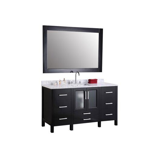 "Design Element Stanton 60"" Single Modern Bathroom Vanity Set"