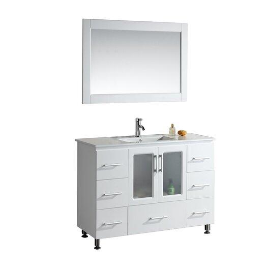 "Design Element Milan Stanton 48"" Modern Vanity Set"