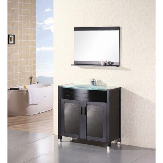 "Design Element Prestige 36"" Bathroom Vanity Set with Single Sink"