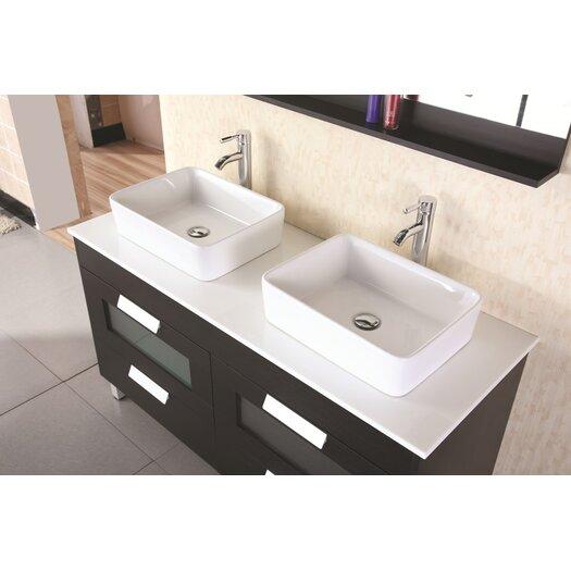 "Design Element Francesca 55"" Double Sink Vanity Set"