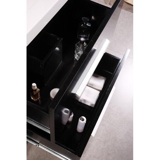 "Design Element Perfecta 72"" Bathroom Vanity Set with Double Sink"