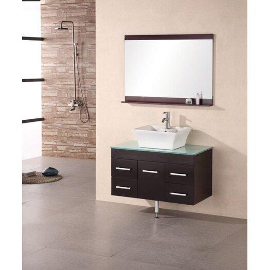 """Design Element Portland Madrid 36"""" Single Sink Vanity Set"""