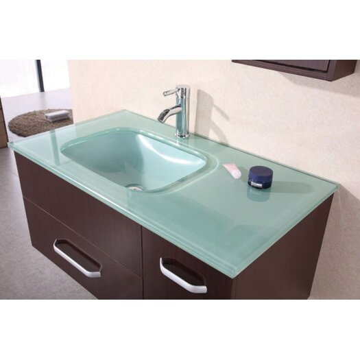 "Design Element Picks 35"" Christine Vanity Set with Single Sink"