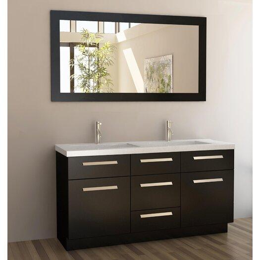 "Design Element Moscony 60"" Double Sink Vanity Set"